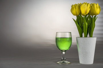 Light green drink