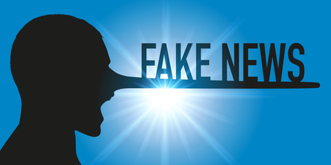 Fake news - informatique - média - mensonge - nez de Pinocchio - concept