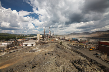 Karabash City-area environmental disaster in the Chelyabinsk region.