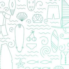 Windsurfing line pattern.