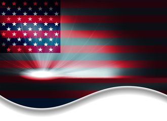 dark background with USA flag