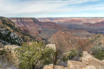 Grand Canyon with Colorado River in Grand Canyon National Park, South Rim Grand Canyon, Arizona, Usa