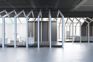 House framed CEO office, side