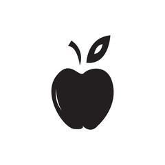 Flat black apple icon