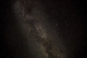 Beautiful night starry sky scene