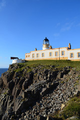 Sea Cliff Leading Up to Neist Point Lighthouse in Scotland