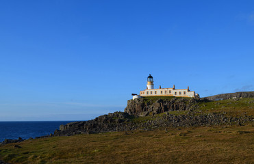 Seascape with Neist Point Lighthouse and Rolling Hills