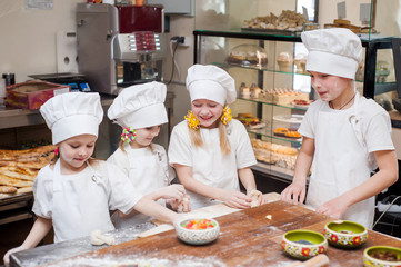 Portrait of a young chef children