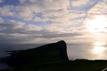 Gorgeous Silhouetted Neist Point at Dusk in Scotland