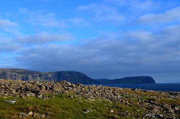 Rugged Rocks Dotting the Landscape on Neist Point