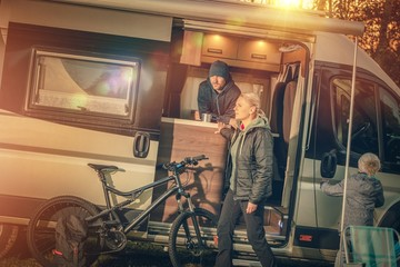 Family Motorhome Camping