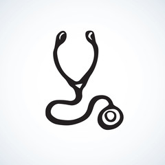 Stethoscope icon. Vector drawing