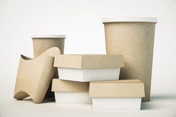 Obraz Fast food packaging - fototapety do salonu