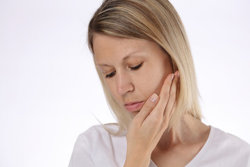 Beautiful Woman Suffering From Toothache. Teeth Pain