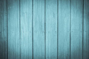 Blue Old wood wall background. Vintage background