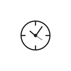 Clock line icon, time outline vector logo illustration, linear p