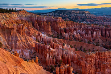 Spoed Fotobehang Bordeaux Scenic View of Bryce Canyon