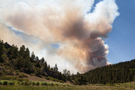 Wildfire in the Rocky Mountains