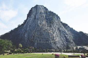 This is Khao Chee-chan Sculptural Image , Buddha Mountain (Khao Chi Chan)