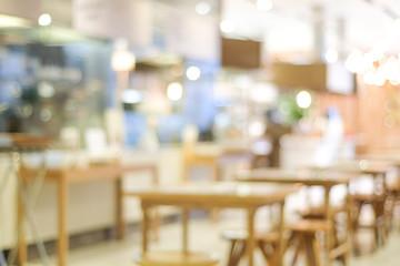 Blurred background : blur restaurant with bokeh light background