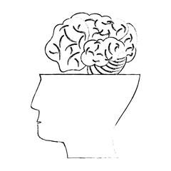 half head human brain idea concept vector illustration eps 10