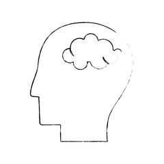 head human brain thinking sketch vector illustration eps 10