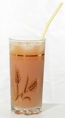 Grapefruit juice in a glass