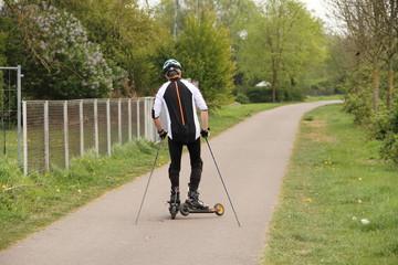 Rollerski laufen