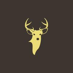 abstract whitetail deer logo