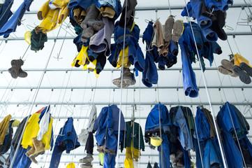 Arbeitskleidung am Prüngelkaken in der Schwarzkaue