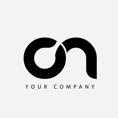 Initial Letter CN Rounded Lowercase Logo