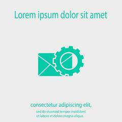 setting parameters and Envelope Mail icon, vector illustration. Flat design style