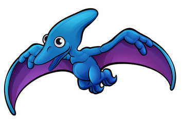 Pterodactyl Dinosaur Cartoon Character