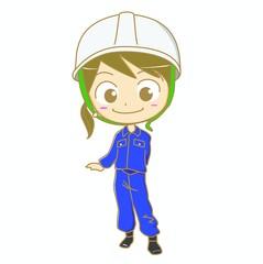 建設現場で働く女性