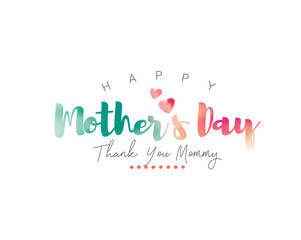 Happy Mother's Day Calligraphy with watercolor Background