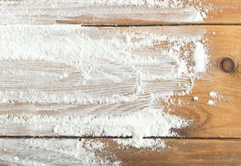 flour on table