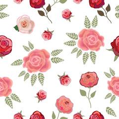 Simple floral border for textile design.
