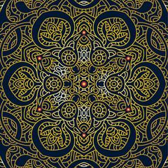 Vector Ornate Mandala. Decorative element. Hand drawn.