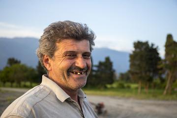 Close up portrait of mature armenian peasant