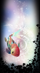 Fantasy koi fish silhouette art photo manipulation