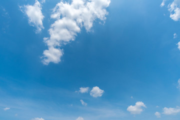 clear blue sky with cloud