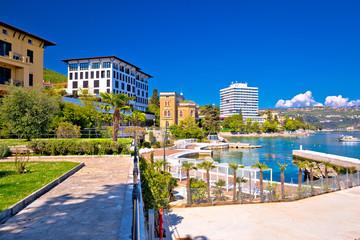 Luxury waterfront walkway in Opatija Fototapete