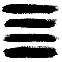 Set of grunge brush strokes. Hand painted watercolor brush strokes