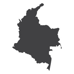 Columbia map in black on a white background. Vector illustration