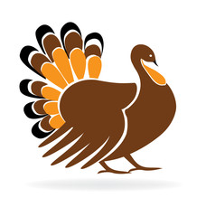 Happy Thanksgiving Turkey Logo