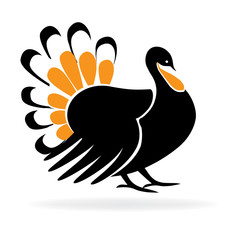 Thanksgiving Turkey Logo Silhouette