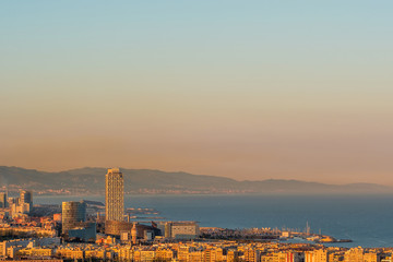 Barcelona coast overlook
