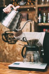 Coffee making in hario