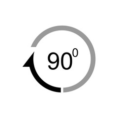 Angle 90 degrees vector icon