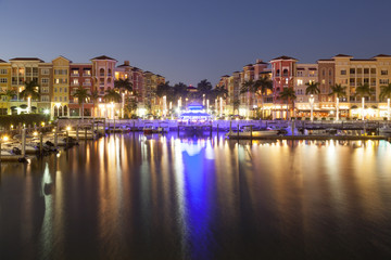 Wall Mural - City of Naples at night. Florida, United States